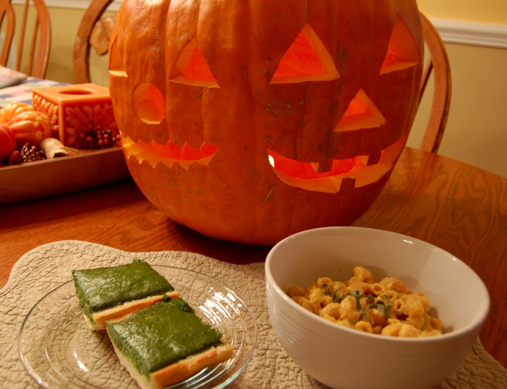 Green Bread & Pumpkin Pasta