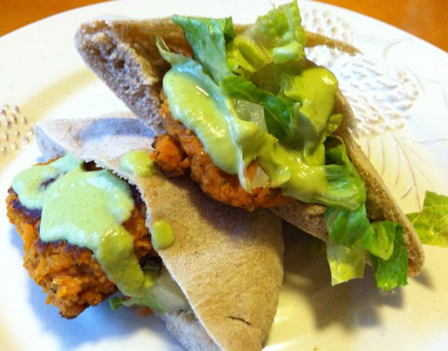 vegan sweet potato falafel 