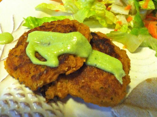 vegan sweet potato falafel 2