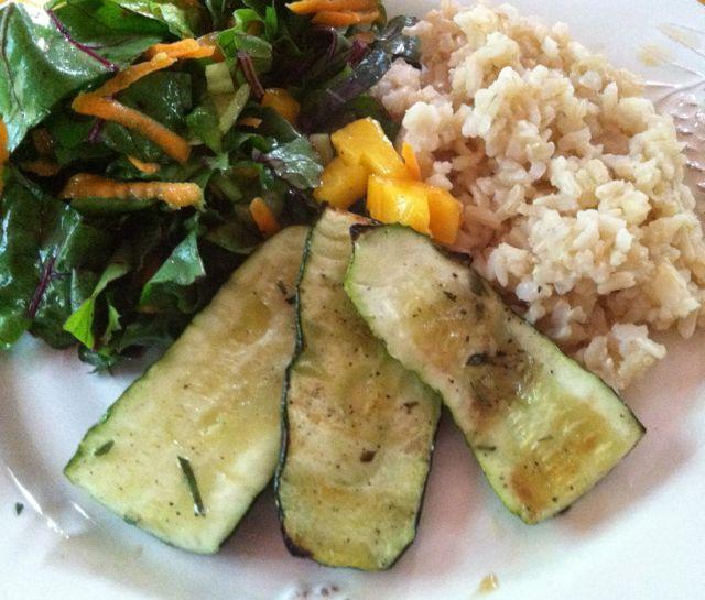 vegan grilled zucchini