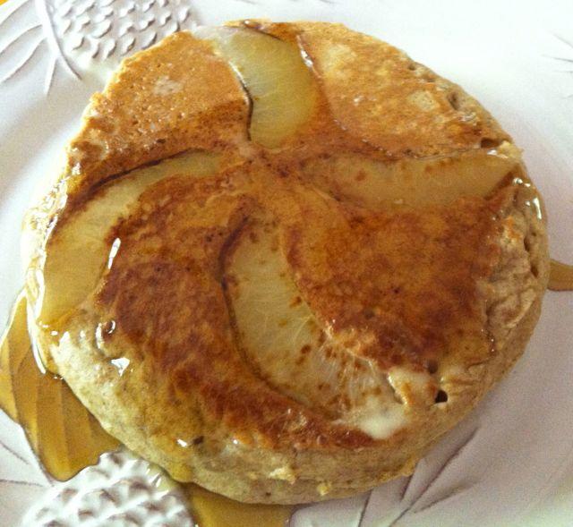 vegan peach pancakes