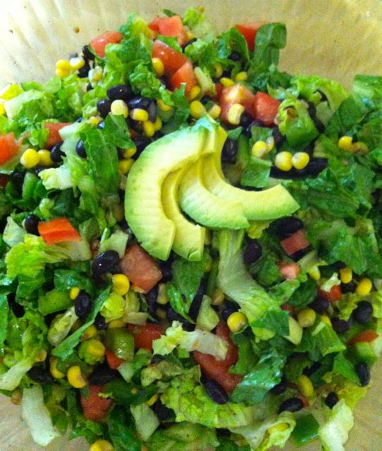 Vegan black bean and corn salad