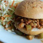 Vegan lentil sloppy joes