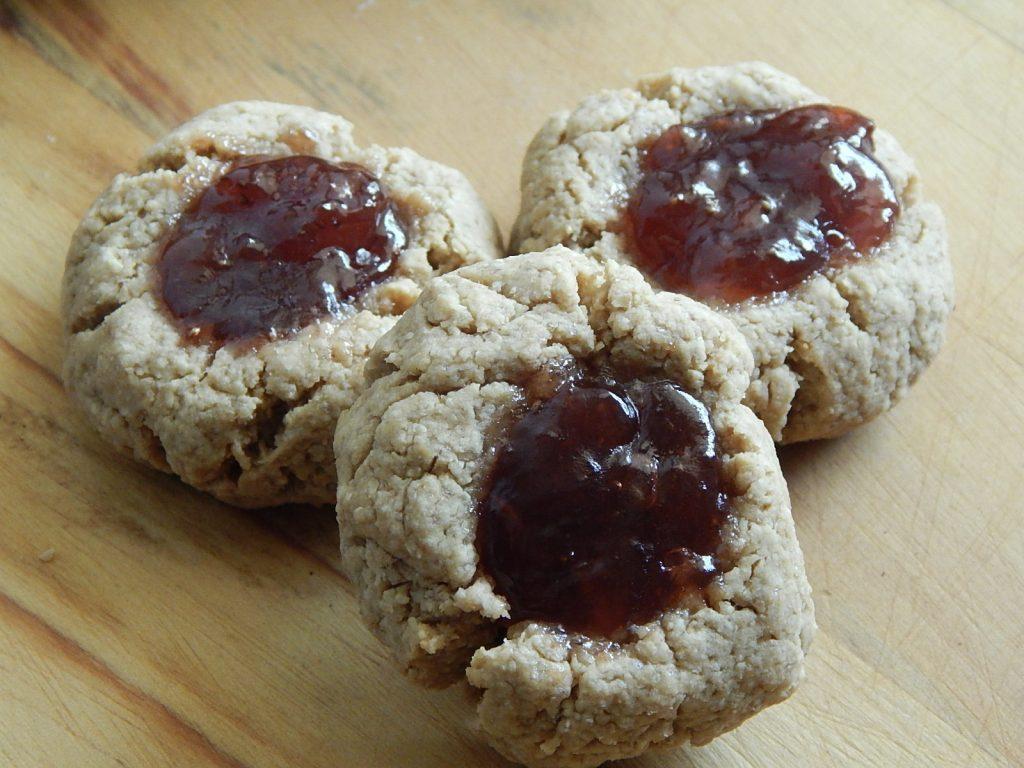 PB and J cookies